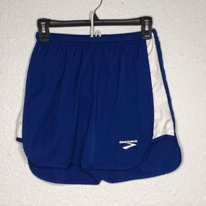 Brooks lined running shorts size small blue